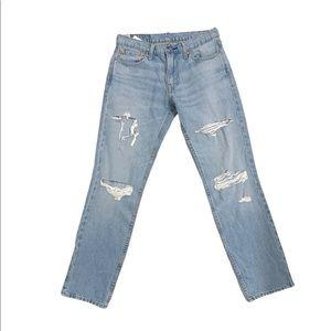 Levi's Mens Distressed 511 Skinny Jeans (Custom)